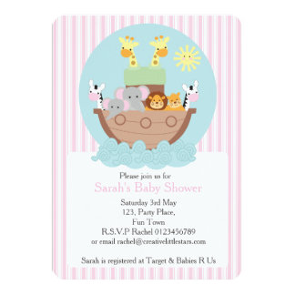 "Noah's Ark Invitation 5"" x 7"", Envelopes included"