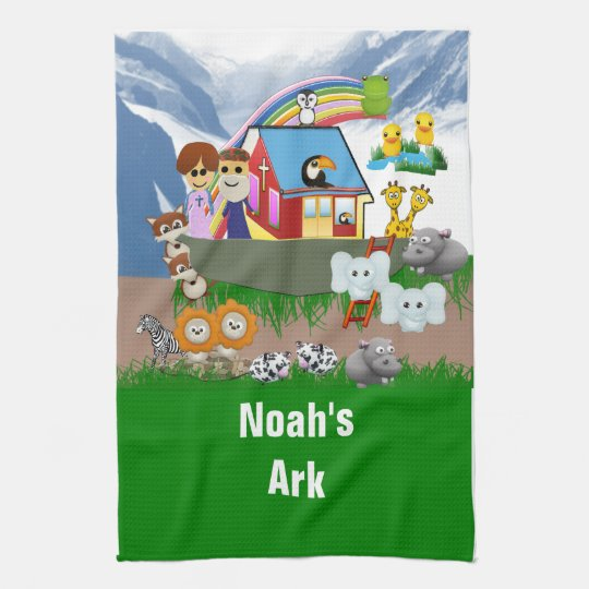 Noah's Ark Kitchen Towel