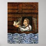 Noah's Ark Mosaic - Circa 1200 - Artist Unknown Posters
