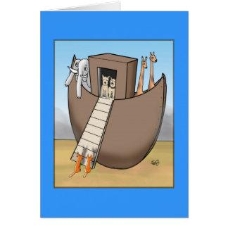 Noah's Ark - No Cats Allowed Card