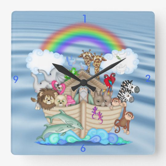 Noahs Ark Nursery Wall Clock Gift For BaBY