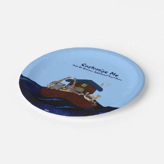 Noah's Ark Paper Plate