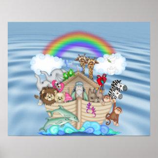 NOAHS ARK Rainbow NURSERY DECORATION MURAL