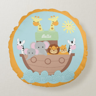 Noah's Ark Round Pillow 16""