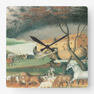 Noahs Ark Square Wall Clock