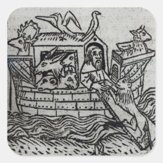 Noah's Ark Square Sticker