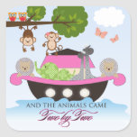 Noahs Ark Stickers for Girls Square