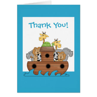 Noah's Ark Thank You Note Card
