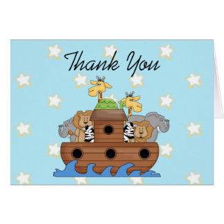 Noah's Ark Thank You  Notes Greeting Card