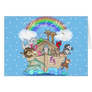 Noah's Ark Thank You  Notes Greeting Card