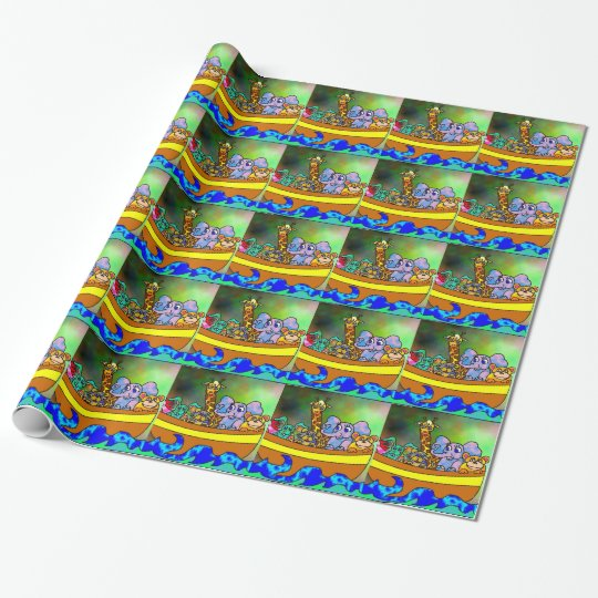 Noah's Ark Wrapping Paper