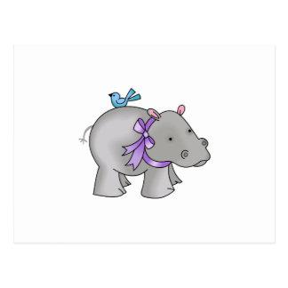 NOAHS HIPPO POSTCARD