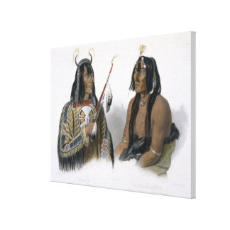 Noapeh, an Assiniboin Indian and Psihdja-Sahpa, a Canvas Print