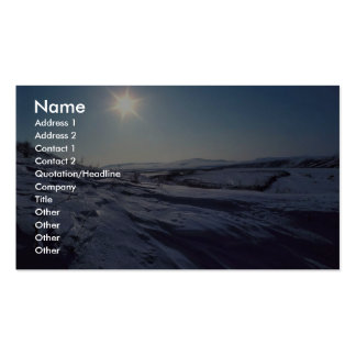 Noatak River Snow Scene Business Card