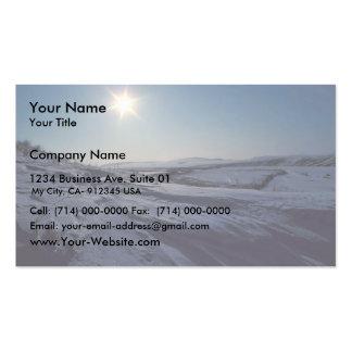 Noatak River Snow Scene Business Cards