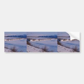 Noatak River Winter Scene Bumper Stickers