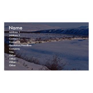 Noatak River Winter Scene Business Card Template