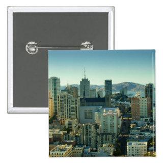 Nob Hill, San Francisco 15 Cm Square Badge
