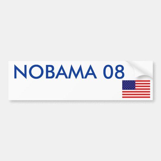 NOBAMA 08 BUMPER STICKER