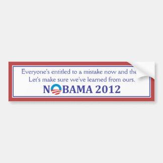 NOBAMA 2012 anti-Obama bumper sticker