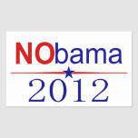 NObama 2012 election Rectangle Stickers