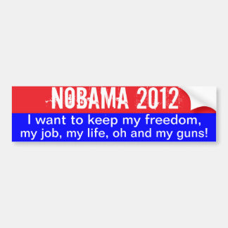Nobama 2012- keep freedom bumper sticker