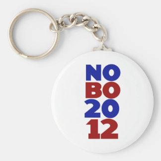Nobama 2012 basic round button key ring