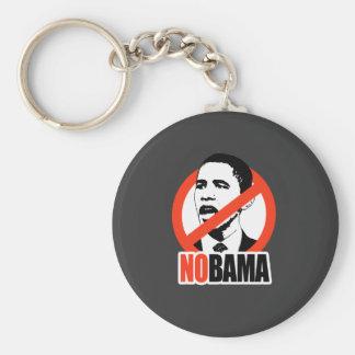NOBAMA / ANTI-OBAMA T-SHIRT BASIC ROUND BUTTON KEY RING
