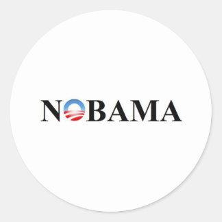 NOBAMA CLASSIC ROUND STICKER