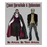 Nobama Halloween - Barackula & Bidenstein Poster