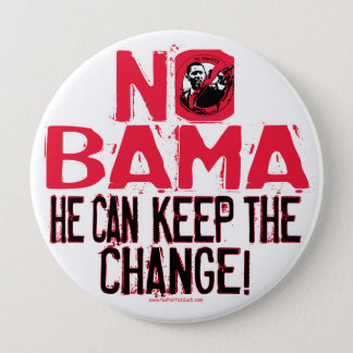 Nobama Keep the Change 10 Cm Round Badge