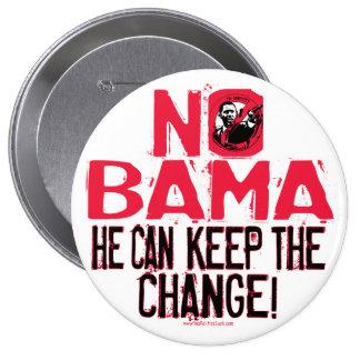Nobama Keep the Change 10 Cm Round Badge