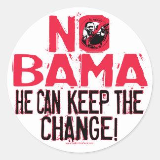 Nobama Keep the Change Classic Round Sticker