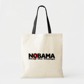 NoBama: Keep the change. Canvas Bag