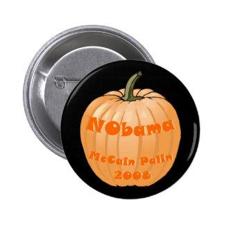 NObama McCain Palin 2008 Jack-o-lantern Halloween 6 Cm Round Badge