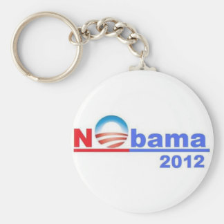 Nobama - No Obama 2012 Basic Round Button Key Ring