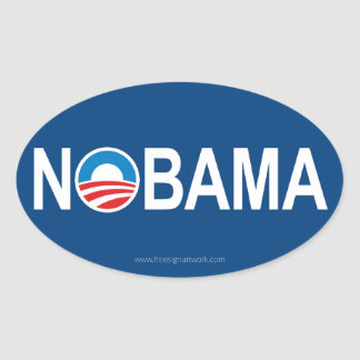 NOBAMA OVAL STICKER