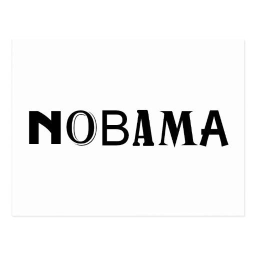 Nobama political t-shirt and gift design post cards