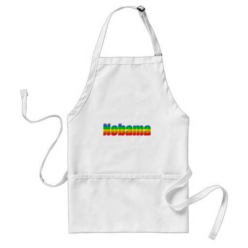 Nobama Rainbow Political Gifts Aprons