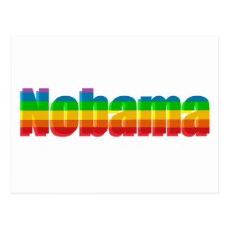 Nobama Rainbow Political Gifts Postcard