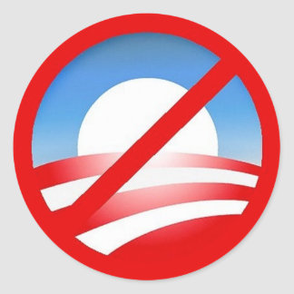 Nobama sign classic round sticker