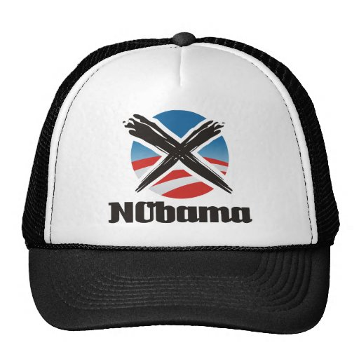 nobama sign mesh hat