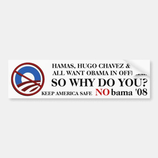 NObama Terrorists Bumper Sticker