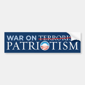 Nobama - War On Patriotism Bumper Sticker