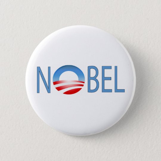 NOBEL OBAMA 6 CM ROUND BADGE
