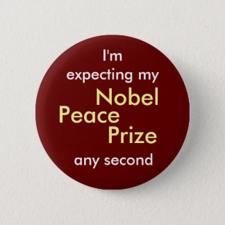 Nobel Peace Prize 6 Cm Round Badge