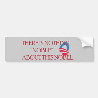 Nobel Peace Prize Bumper Sticker