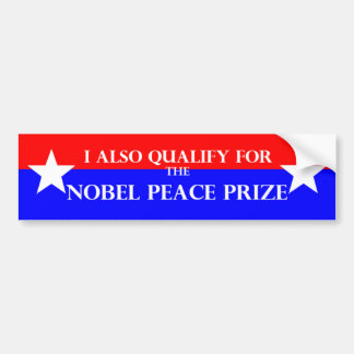 Nobel Prize Bumper Sticker
