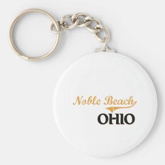 Noble Beach Ohio Classic Basic Round Button Key Ring