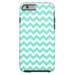 Noble Chevron Mint Green And White